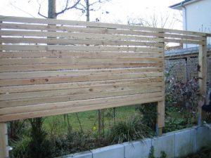 Construction clôture jardin