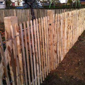 clôture en châtaignier