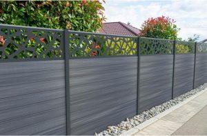 Type de clôture en bois composite