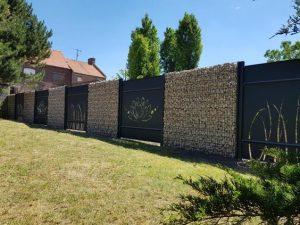 différents types de clôture en gabions